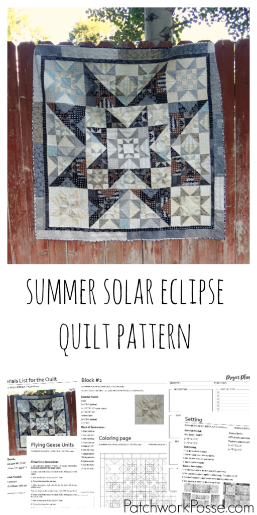 The summer solar eclipse in a full pdf printable pattern. Can't wait to try out the coloring page and the tracking sheet so I will know where I am!