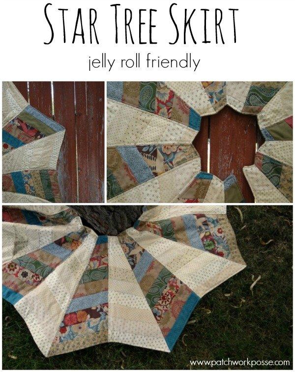 Star Tree Skirt - Jelly Roll Friendly - : quilt tree classes - Adamdwight.com