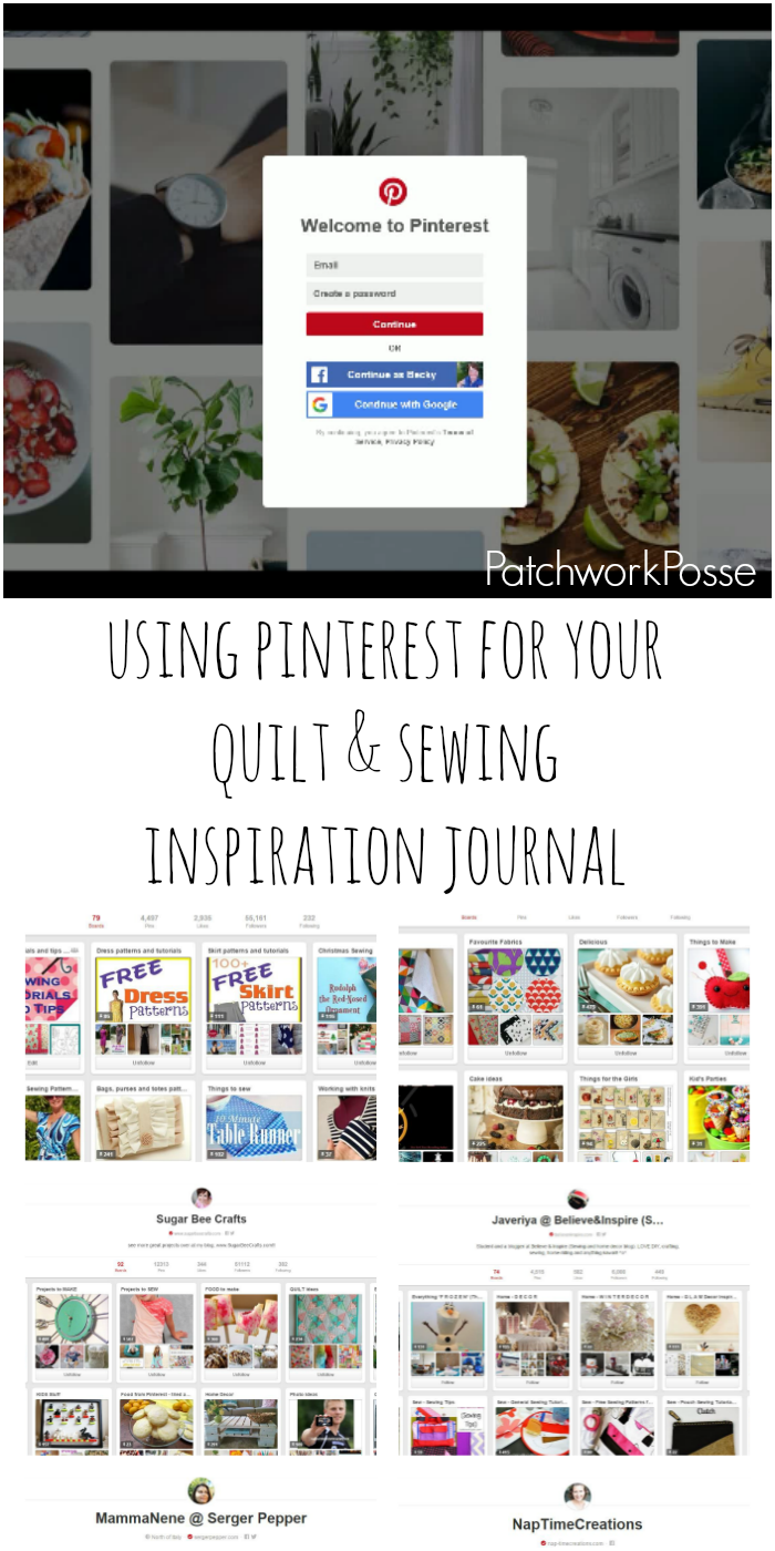 how to use pinterest as a quilting inspiration journal full of tutorials, images, ideas and more!