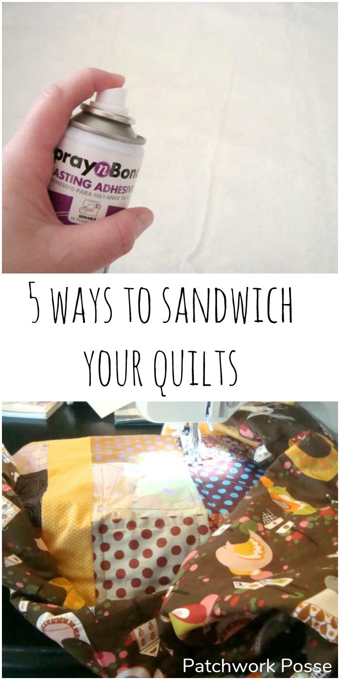 5 ways to sandwich quilts