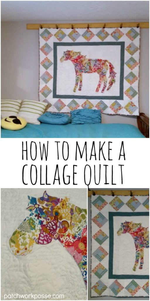 how to make a fabric collage quilt - hints, tips and more! These are so fun- love the horse!