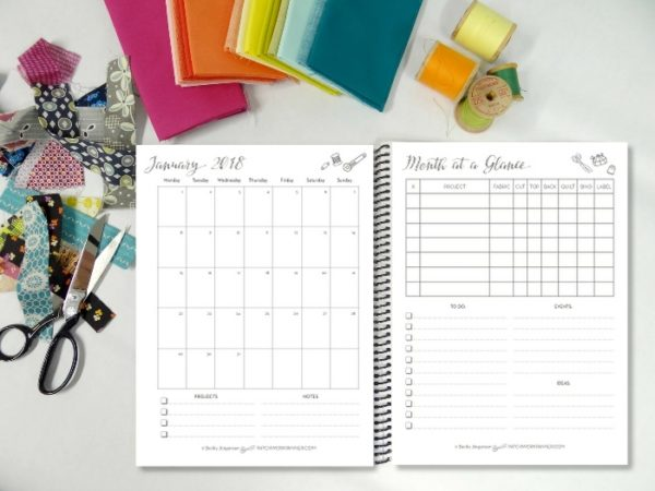 patchwork calendar 2018 make this the year of finishes!