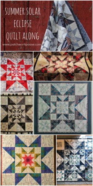 summer solar eclipse quilt along show and tell. the quilts are beautiful! Pattern is simple- I need to get started still
