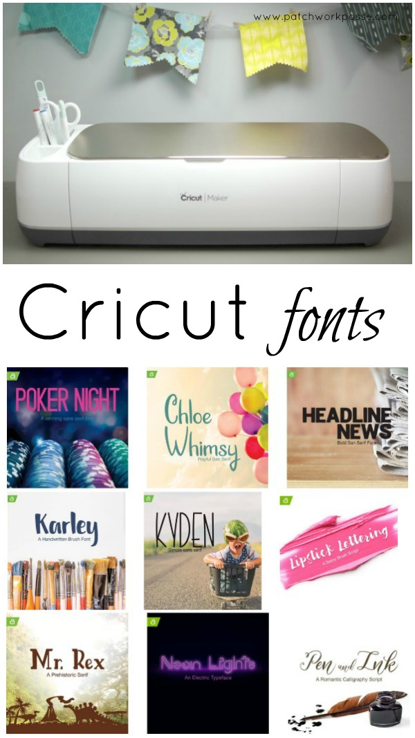 Cricut Maker Printables and Free Fonts -