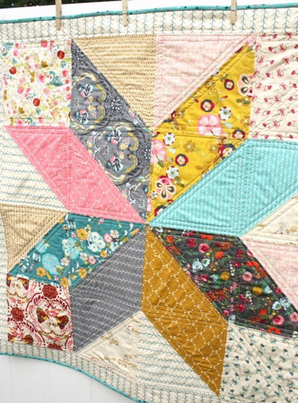 beautiful quilt you can cut with the Cricut Maker