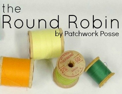 the Round Robin Edition 1  New block of the month and quilting tips that actually are helpful!