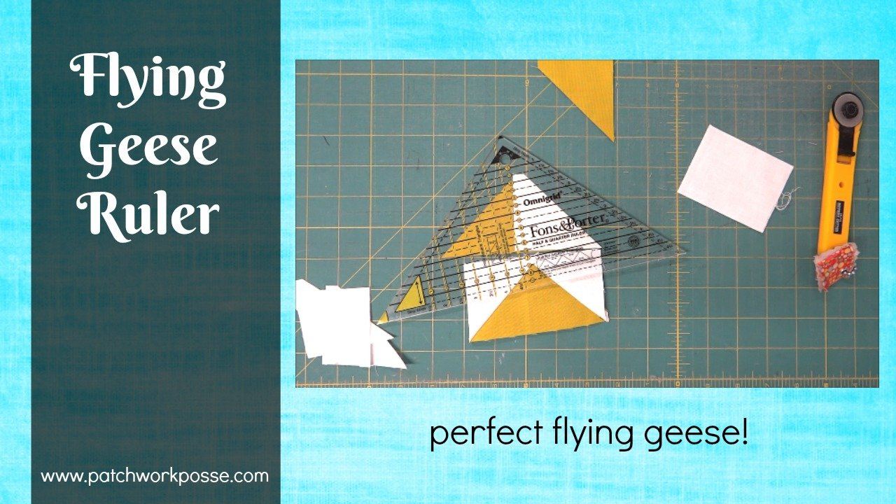 Flying Geese Ruler and How to Use it