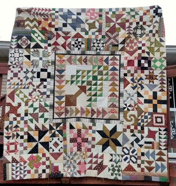 sampler of 2018 - this is found www.iaquilters.com sew it up block by block- weekly!