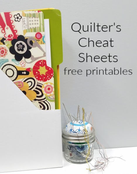 quilt cheat sheets free printables to use - grab your copy at patchworkposse.com I always need to know these things! #quilter #printable