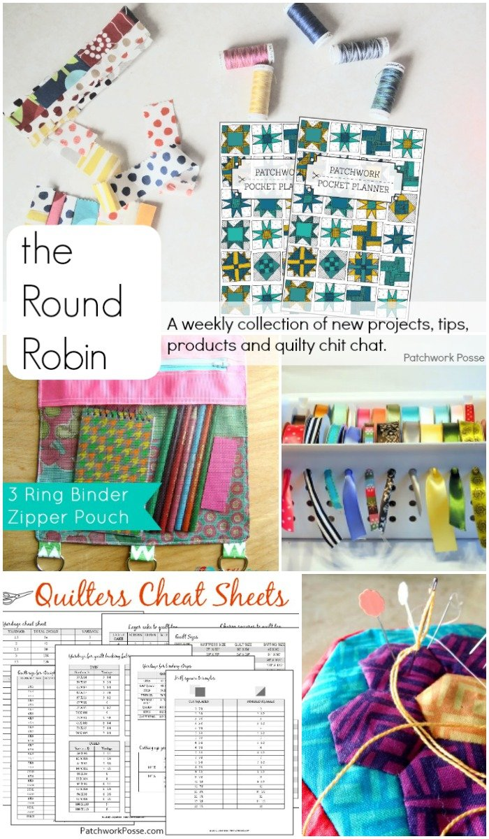 the Round Robin Edition 15- quilting printables, cheat sheets & project tracking