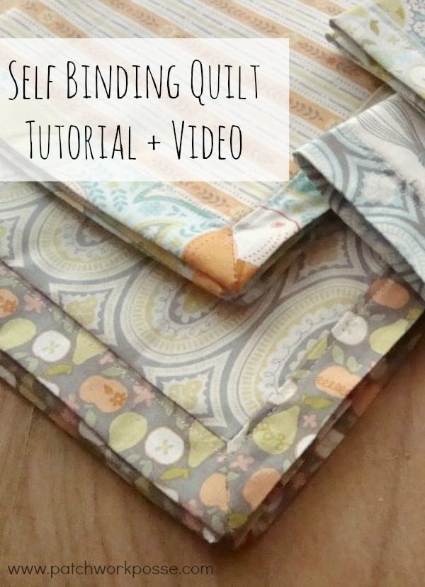 self binding quilt tutorial - how to use the backing for the fabric. Simple, Quick and works great!