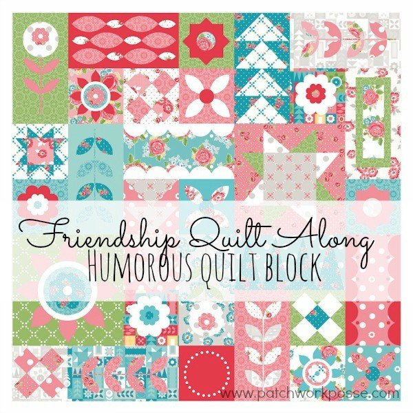 Humorous Quilt Block from Friendship Quilt Along