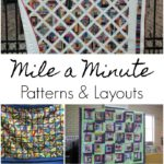mile a minute patterns and layouts to sew with scraps