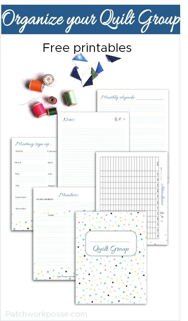 Free Printables for Organizing Quilt Groups