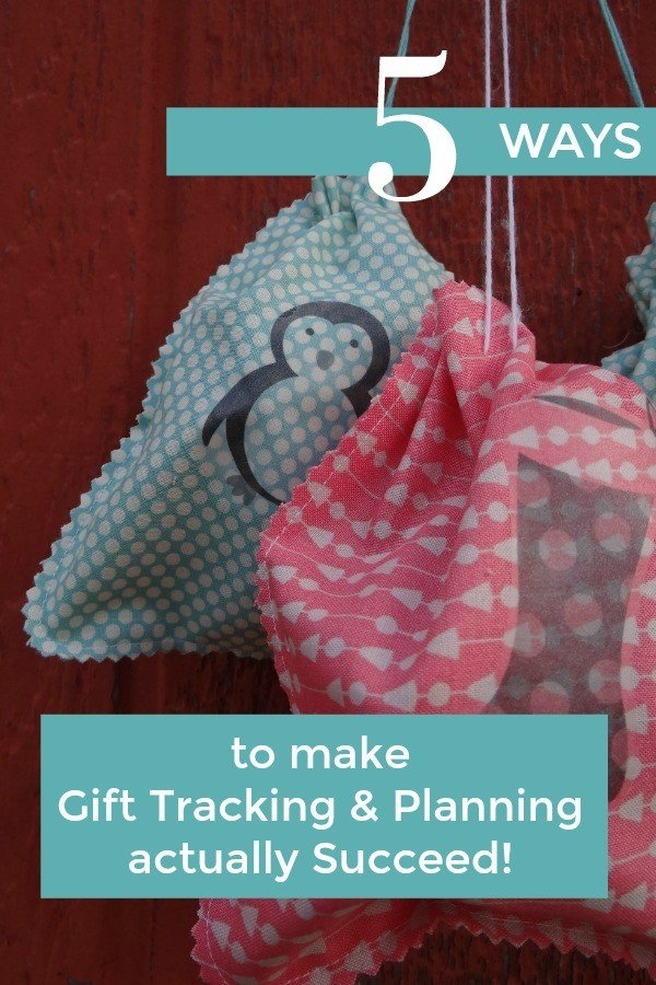 5 Ways to make Gift Tracking & Planning actually Succeed!