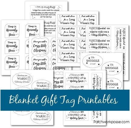 image about Christmas Tag Printable known as Blanket Reward Tag Printable - 8 templates! - Patchwork Posse