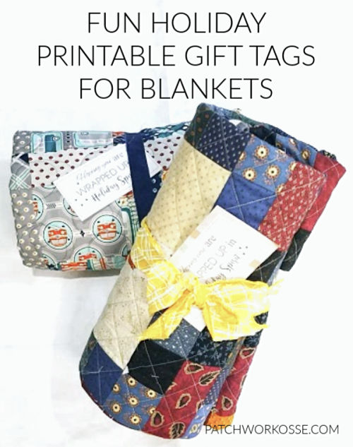 fun holiday printable gift tags for blankets- super cute and free to use! 8 templates #printable #freepattern #holidaygift