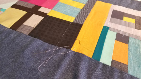 hand basting a quilt tutorial