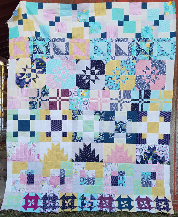 Disappearing Row Along- free on Patchwork Posse. Come sew along!