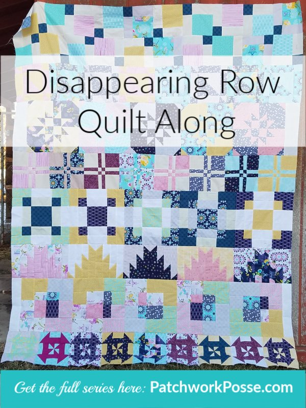 Disappearing Quilt Blocks Quilt Along | Block Row #7