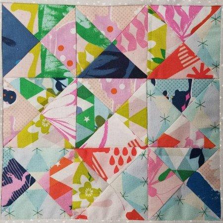 garden walk quilt along center quilt block - come sew along!