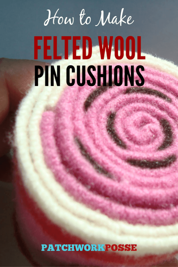 How to make felted wool pincushions. Perfect for wool strips and shrunk sweaters. so cute!