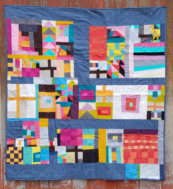 Gee's Bend Inspired Sampler Quilt 2018. Salt Lake Modern Quilt guild. Designed by Patchwork Posse. quilting | sewing | mqg | quilt along