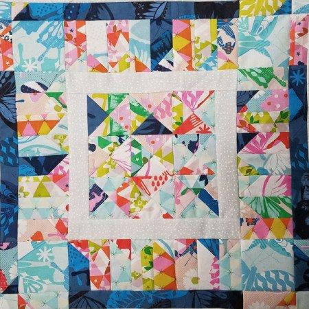 1st border blocks garden walk quilt along 1