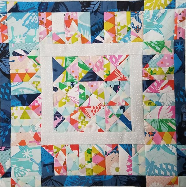 1st border blocks garden walk quilt along 1