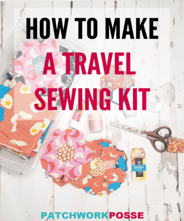 How to make a travel sewing kit. Super simple with supplies you have in the house! Great for travel anywhere! #quilting #sewing #diy #travel