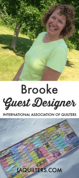 Meet Brooke of Silly Mama Quilts- this month's guest designer for the International Association of Quilters!