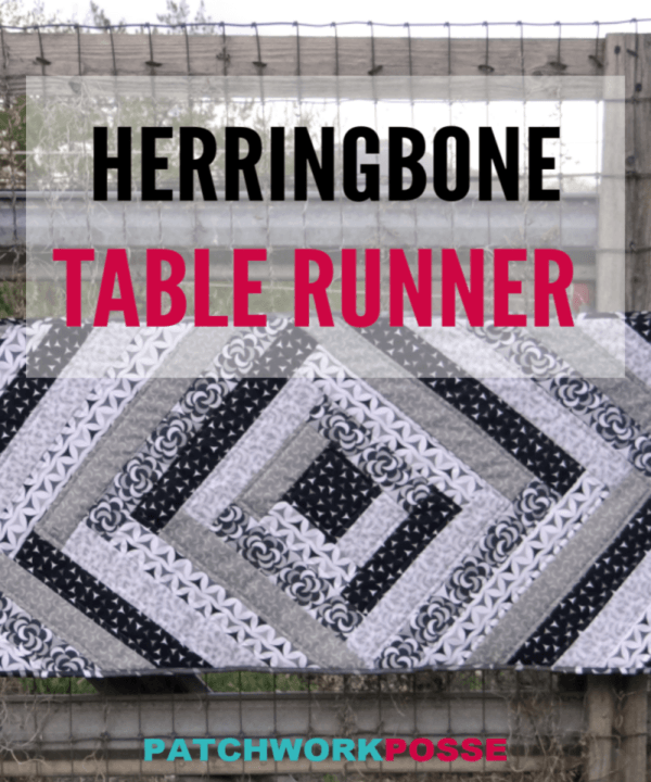Learn how to make a Herringbone Table Runner using the quilt as you go technique. Simple and great for your fabric strips.