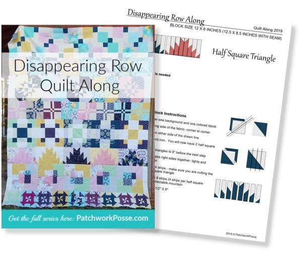 Disappearing Quilt Blocks Quilt Along | Block Row #4