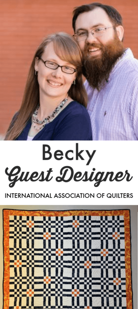 Learn all about Becky of Bobbin in Quilts - guest designer for IAQ.