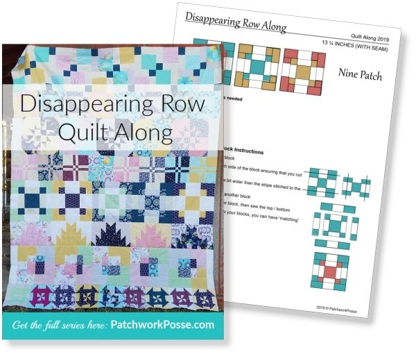 Disappearing Quilt Blocks Quilt Along | Block Row #5