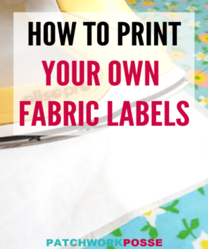 HOW TO PRINT YOUR OWN FABRIC LABELS