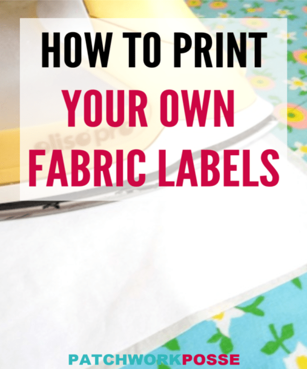 Learn how to print your own fabric labels!  Printing on fabric is really perfect for customizing your labels.  It's a great way to add your notes, stories, give credit, the reason behind the quilt...and whatever else.