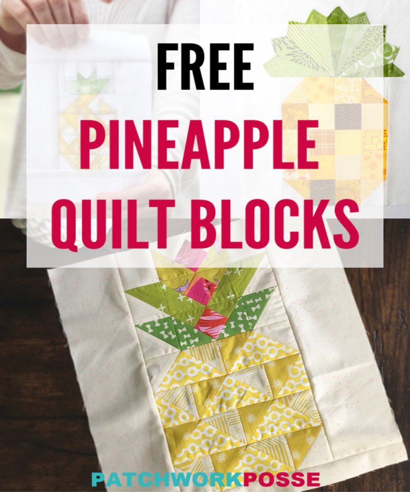 free pineapple quilt block tutorials