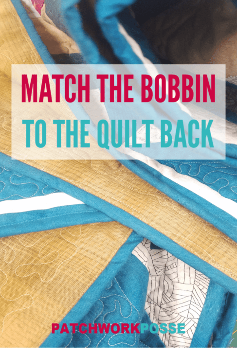 When it comes to binding your quilt, there is one little thing that I like to do to make the quilt just a little bit nice-- match the bobbin thread to the quilt backing fabric.