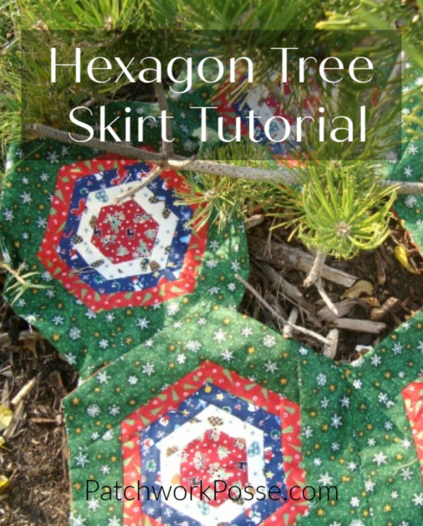 Learn how to make a tree skirt using hexagon shapes!