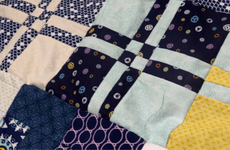 This month we'll be sewing Row #8 - a disappearing four patch quilt block! You'll learn how to cut it up and reassemble it into a new block and complete a row!