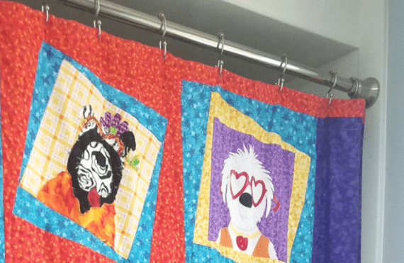 How to make a quilted shower curtain. Simple, cute and washable!