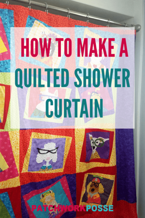 Making your own shower curtain with a quilt is pretty simple! Learn how to make a quilted shower curtain with a quilt top. No batting is required and it's easy to clean.