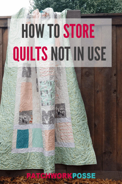 how to store quilts not in use