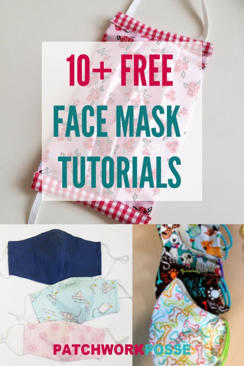 10 Free Face Masks To Sew At Home Patchwork Posse