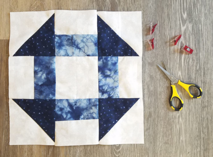 Churn Dash Quilt Block Video Tutorial