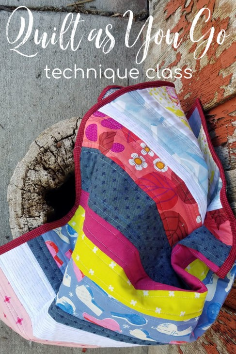 Quilt as you go pattern and class for beginners! Learn this technique with three fun projects.